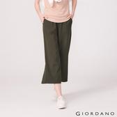 【GIORDANO】女裝莫代爾垂墜風寬褲 - 60 深淵綠