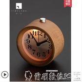 電子鬧鐘臥室靜音鬧鐘木頭創意時鐘學生用兒童床頭鐘表鬧鈴夜光電子小鬧鐘 爾碩數位