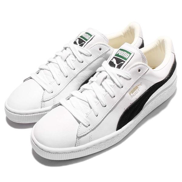 Puma 休閒鞋 Basket Classic 白 黑 基本款 金標 休閒鞋 女鞋 男鞋【ACS】 35191203