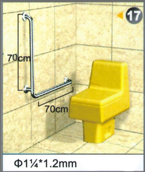 """不銹鋼安全扶手-17 (1.2""""*1.2mm)70cm*70cm扶手欄杆 衛浴設備 運費另問"""