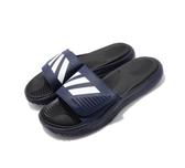 Adidas Alphabounce Slide 男款深藍白拖鞋-NO.F34774