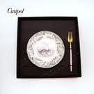 葡萄牙Cutipol GOA系列-粉金水果叉餐盤組-兔子-原廠盒裝
