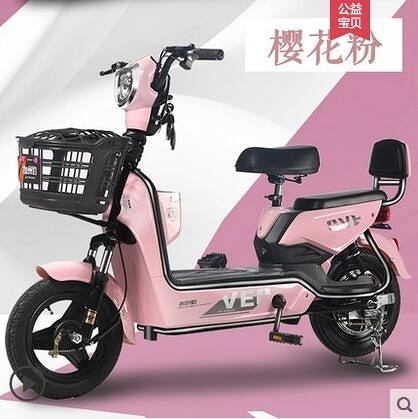 加州豹電動車新國標電瓶48V小型代步助力電單車女成人電動自行車 快速出貨