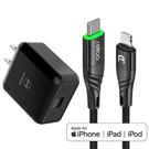 Mcdodo 蘋果MFi認證 PD/Lightning/Type-C智能斷電充電線充電器充電頭快充頭快充線 孔雀 麥多多