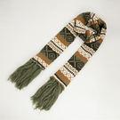 民族風針織棉圍巾【橄欖綠】 N013 韓版 羊絨 混毛料【Vogues唯格思】