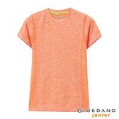 【GIORDANO】 童裝G-MOTION運動彈力T恤-93 雪花橘子橙