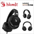【Bloody】雙飛燕 M550 魔磁雙震模高質音樂耳機(黑灰 )-贈價值299 耳機展架