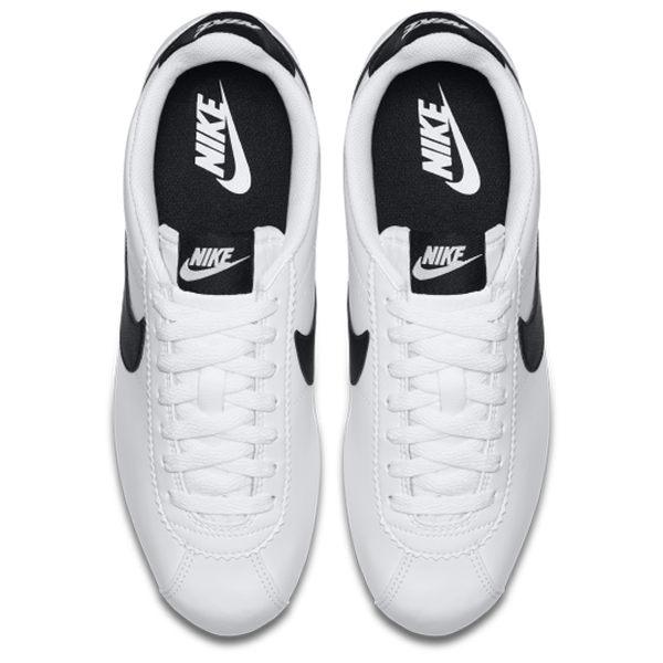 ★現貨在庫★ NIKE Classic Cortez Leather 女鞋 阿甘 休閒 皮革 白 黑 【運動世界】807471-101
