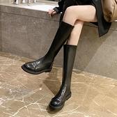 靴子 不過膝長靴女秋冬新款百搭瘦瘦彈力長筒靴英倫風顯瘦騎士靴 優拓