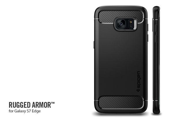 【贈玻璃貼】Spigen 韓國 SGP Samsung Galaxy S7 edge Rugged Armor 卡夢紋 碳纖紋 強化吸震 軟質手機殼 保護殼