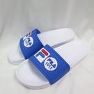 FILA 運動拖鞋 防水拖鞋 男款 4S351V133 白藍 25-29cm 整數碼【iSport愛運動】