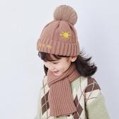 加絨兒童帽子圍巾兩件套裝寶寶毛線帽護耳2歲3男童4女童6潮秋冬季  潮流小鋪