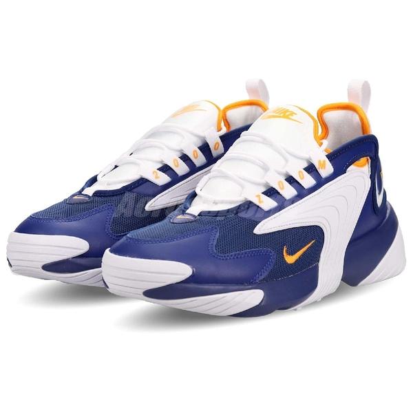 Nike 慢跑鞋 Zoom 2K 藍 橘 氣墊設計 復古 運動鞋 男鞋【ACS】 AO0269-400