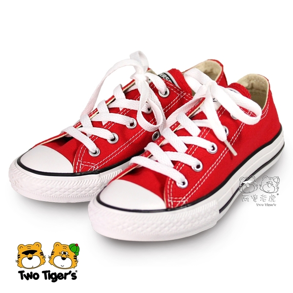 CONVERSE ALL STAR 紅色 低筒 鞋帶 基本款帆布鞋 中童鞋 NO.Q5832