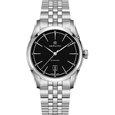 Hamilton 漢米爾頓 CLASSIC 紳士大三針機械腕錶-黑x銀/24mm H42415031
