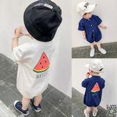 連身裝 嬰兒衣服寶寶連身衣夏裝新品0-3個月時尚薄款包屁衣新生兒外出服 2色