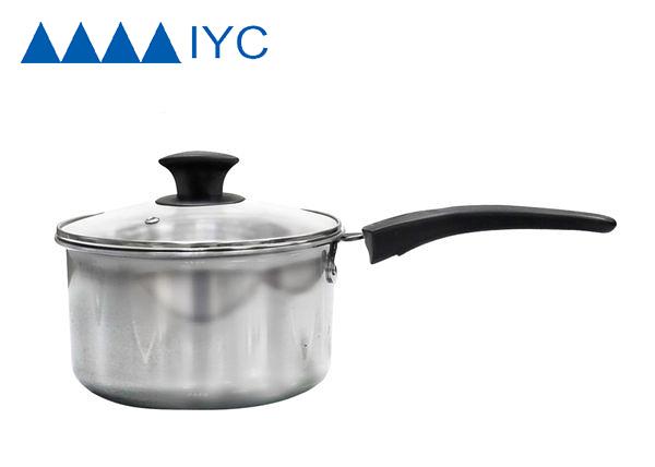 【 IYC綠能餐飲設備 】不鏽鋼單把湯鍋(含蓋)