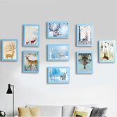 簡約現代照片墻裝飾品餐廳臥室墻面創意相框墻樓梯掛墻組合相片墻WY【八五折優惠 最後一天】