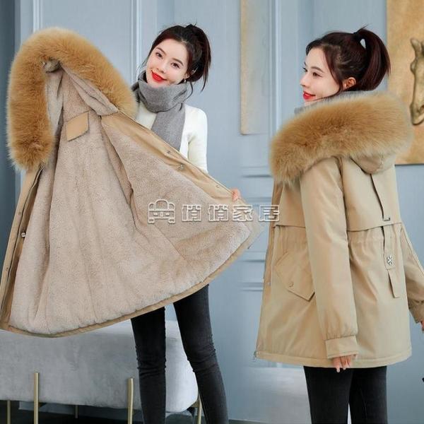 高檔女派克服女中長款加絨加厚超厚羽絨棉服外套女外穿女式棉衣女