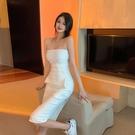 抹胸洋裝 抹胸連身裙女2021新款夏季氣質修身御姐白色裙子收腰中長款包臀裙 寶貝 618狂歡