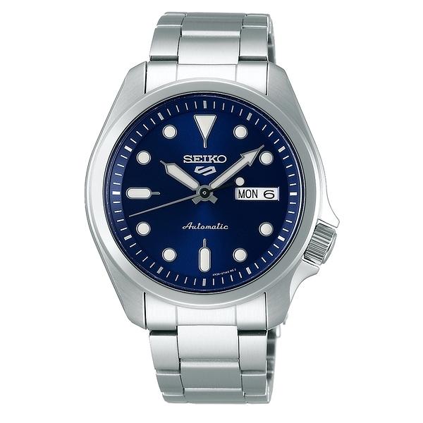 【台南 時代鐘錶 SEIKO】精工 5 Sports 系列機械錶 SRPE53K1 4R36-08L0B 藍/銀 42.5mm