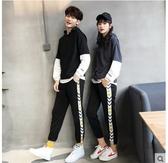 小鄧子2017秋冬裝新款韓版情侶裝衛衣套裝加絨加厚兩件套男女學生班服潮