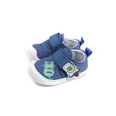 兒童鞋 休閒布鞋 魔鬼氈 灰藍色 小童 童鞋 1301 no174