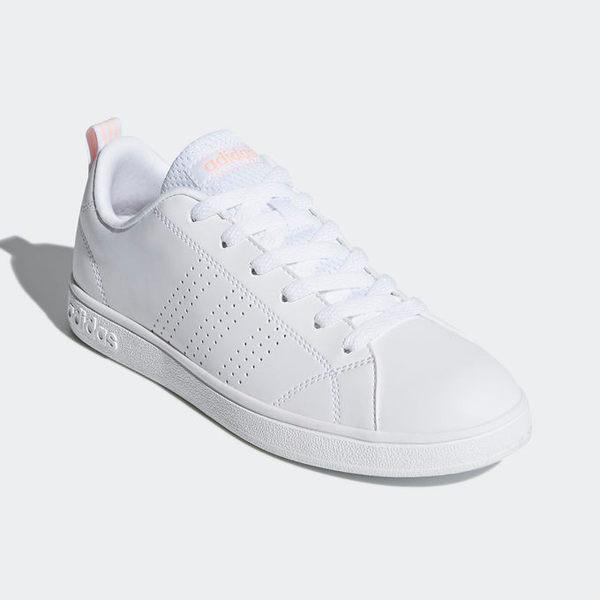 ADIDAS VS ADVANTAGE CLEAN 女鞋 休閒 板鞋 經典 白 粉【運動世界】DB0581