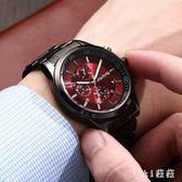 男士手錶 機械表全自動夜光防水精鋼小三針6針石英表韓版 nm7368【VIKI菈菈】