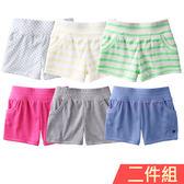 羅紋短褲 女童 中大童 夏日 熱褲 褲子 2件組 Augelute 52305