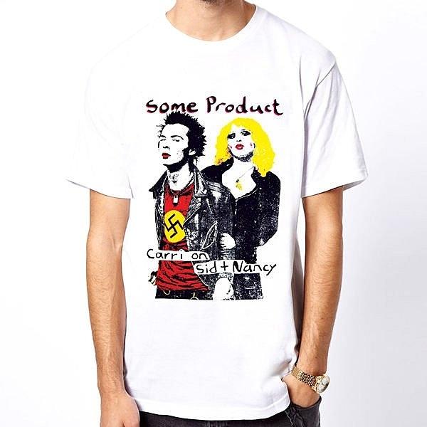 Sid & Nacy-Some短袖T恤-白色 性手槍punk潮流搖滾樂團趣味幽默