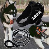 中大型犬狗狗錬 子金毛拉布拉多牽引繩阿拉斯加k9胸背帶遛狗繩用品 范思蓮恩