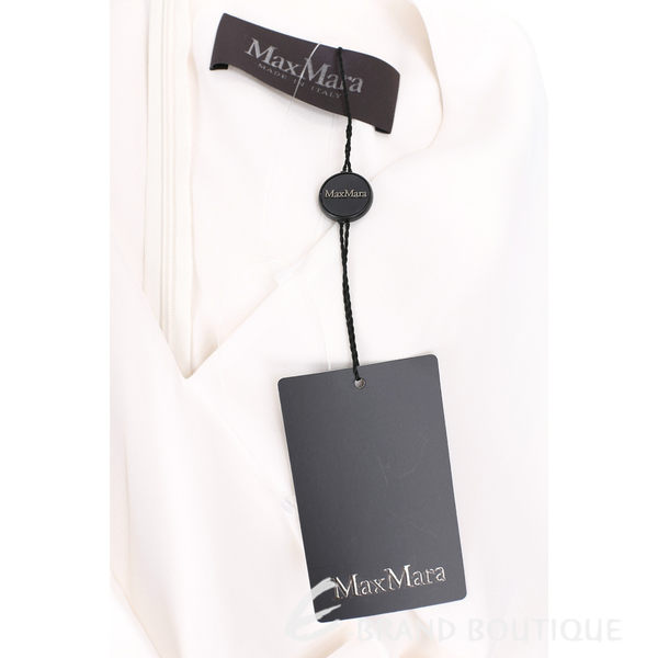 Max Mara 米色拼接印花中長裙V領無袖洋裝 1620540-40