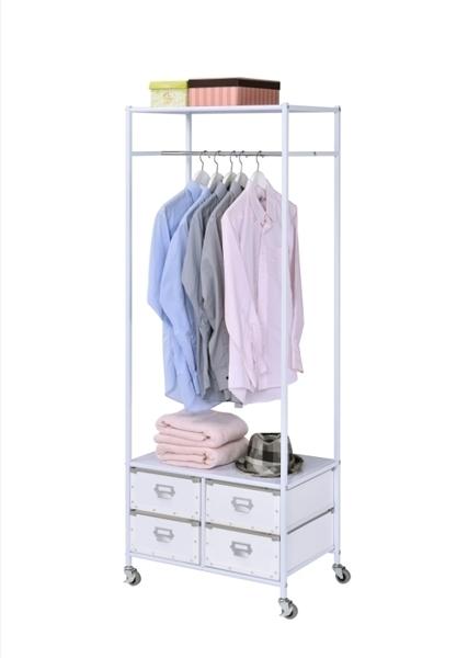 掛衣架 收納櫃 衣物收納 衣櫃 衣櫥【B0093】都會質感移動式衣櫥(白色) MIT台灣製ac 收納專科