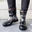 秋冬新款男雨鞋膠鞋男士保暖加絨雨靴水鞋套鞋中筒防水防滑釣魚鞋