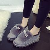 低筒雪靴-時尚簡約保暖蝴蝶結女厚底靴子3色73kg63【巴黎精品】