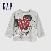 Gap嬰兒 Gap x Disney 迪士尼系列圓領休閒上衣 616405-灰色