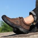 戶外登山鞋男男鞋真皮透氣男鞋防滑耐磨防水休閑運動跑步鞋子
