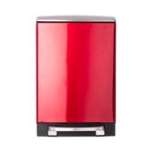 HOLA 蘿拉方形緩降金屬垃圾桶12L-紅色
