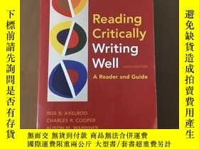 二手書博民逛書店Reading罕見Critically Writing Well