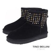 Tino Bellini個性視覺金屬鉚釦雪靴_ 黑  A69049