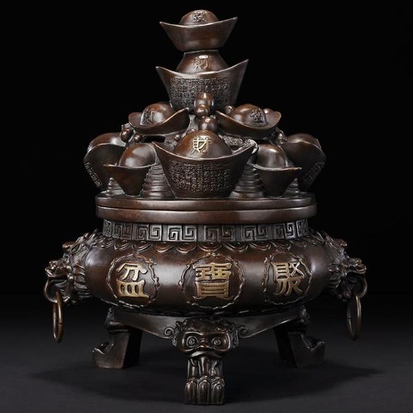 銅聚寶盆擺件 招財