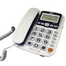 三洋SANLUX增音來電顯示有線電話(紅/銀/鐵灰) TEL-832