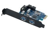 新竹【超人3C】 ORICO PCI-E 介面卡 USB3.0 2埠擴充卡 PVU3-2O2I