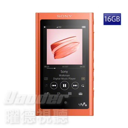 【曜德★送絨布袋】SONY NW-A55 (16GB) 紅 觸控藍芽 A50系列數位隨身聽