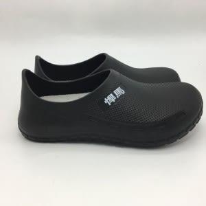 廚師鞋布希鞋防水鞋工作鞋超輕量耐磨止滑底灰色加厚透氣乳膠鞋墊H8889