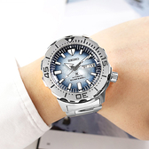 SEIKO 精工 / 4R36-11C0H.SRPG57K1 / PROSPEX 愛海洋 企鵝漫步 潛水錶 機械錶 不鏽鋼手錶 淡藍色 41mm