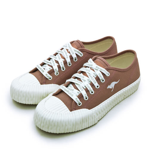 LIKA夢 KangaROOS 帆布厚底餅乾鞋 CRUST藍標系列 梅紅 91272 女