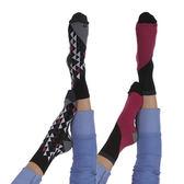 【摩達客】英國進口Pretty Polly 時尚嬉皮圖騰紋腳踝襪短襪超值組(一組兩雙不同款 60114076010)