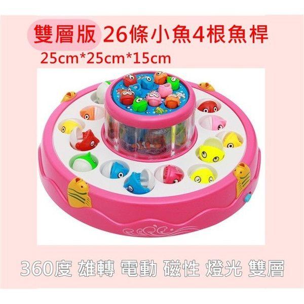 兒童玩具 雙層360度旋轉聲光音樂釣魚盤 釣魚機 寶貝童衣